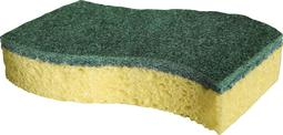 Spontex sponge green (2 pieces) stainless steel
