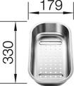 Colander stainless steel TIPO 6 Basic, Stainless steel