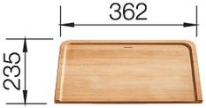 Chopping board massive beech wood small for Underline, beech wood