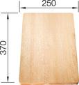 Chopping board beech wood 370 x 250 mm, beech wood