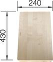 Chopping board massive maple SUBLINE 430 x 240 x 32 mm, maple