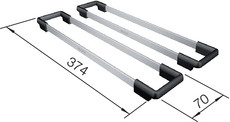 Set ETAGON-Rails KSC, stainless steel/plastic
