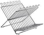 Dish stand, stainless steel, hinged, Stainless steel