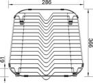 Grid for PLENTA with device for plate stacks, Stainless steel