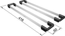 Set TOP-Rails 400, stainless steel/plastic