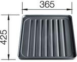 Draining tray, plastic, black