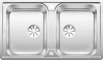 BLANCO CLASSIMO 8-IF, Stainless steel brushed finish, with drain remote control, 80 cm min. cabinet size