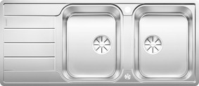 BLANCO CLASSIMO 8S-IF, Stainless steel brushed finish, with drain remote control, reversible, 80 cm min. cabinet size