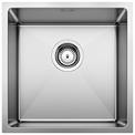 S/S SINK BLANCO QUATRUS R15 400-IU, Stainless steel brushed finish, w/o waste fitting, 45 cm min. cabinet size