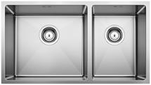 S/S SINK BLANCO QUATRUS R15 435/285-IU L, Stainless steel brushed finish, w/o waste fitting, 80 cm min. cabinet size