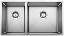 S/S SINK BLANCO QUATRUS R15 435/285-IU R, Stainless steel brushed finish, w/o waste fitting, 80 cm min. cabinet size