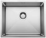 S/S SINK BLANCO QUATRUS R15 500-IU, Stainless steel brushed finish, w/o waste fitting, 60 cm min. cabinet size