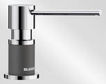 BLANCO LATO, brass SILGRANIT™ Look dual finish, rock grey/chrome