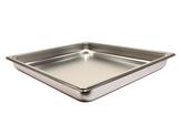 Colander stainless steel GN 2/3 -40 non-perforated, Stainless steel