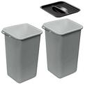 Set de transformation (2x8 l) + 1 couvercle, plastique, gris