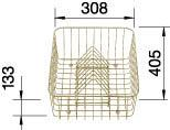 Crockery basket CLASSIC 5 S beige, Metal laminated