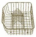 Crockery basket CLASSIC 45 brown Silacron, Metal laminated