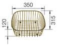 Crockery basket FLEX / TOP brown, Metal laminated