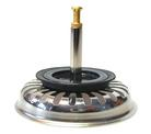 """Basket strainer 3.5"""" pop-up ChromoDur (24 drain trenches) (replaced by 125555) VI"""