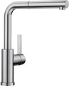 BLANCO LANORA-S-F, Stainless steel brushed finish, stainless steel, High Pressure