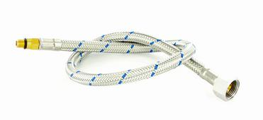 Flexible hose blue with gasket/mud guard 50 cm metal M8x1 BL(AV) (replaced by 122472)