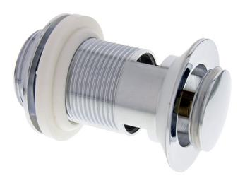 Push-open waste 1 1/4'' chrome complete HU