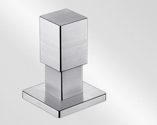 Pull pop-up control QUADRIS stainless steel brushed finish