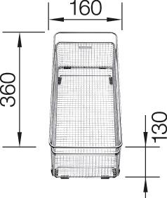 Multifunctional basket stainless steel SUBLINE 360 x 160 mm, Stainless steel