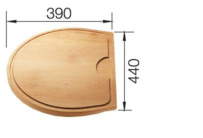 Chopping board solid wood CRON+CRON/2, solid wood