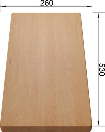 Chopping board beech wood  530 x 260 mm, beech wood