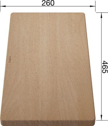Chopping board massive beech wood 465 x 260 mm, beech wood