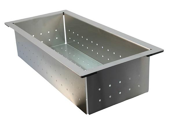 Colander STEELART stainless steel 420 x 200 mm, Stainless steel