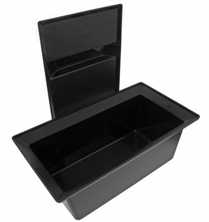 Sorting bin with lid COLLECTIS 6, plastic, black